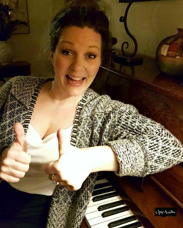 Matilda är även kördirigent och skall starta en ny pensionistkör