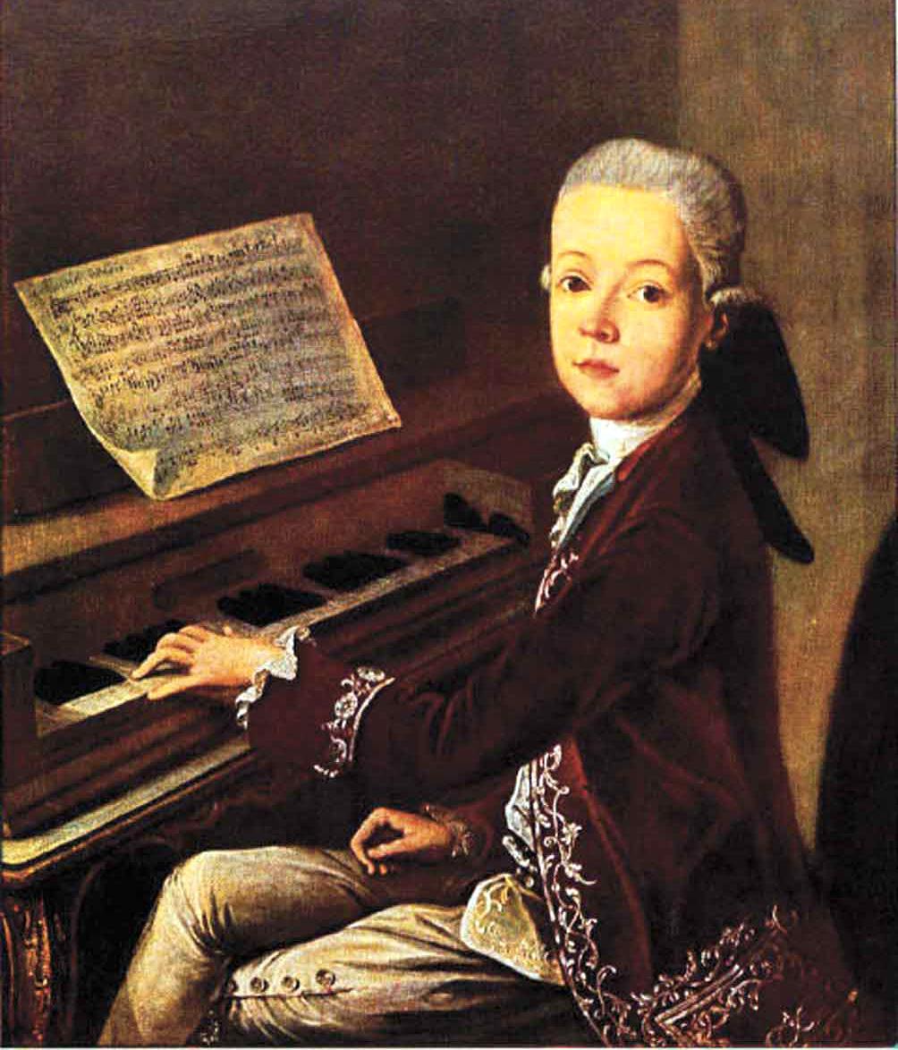 mozart började komponera redan som ung